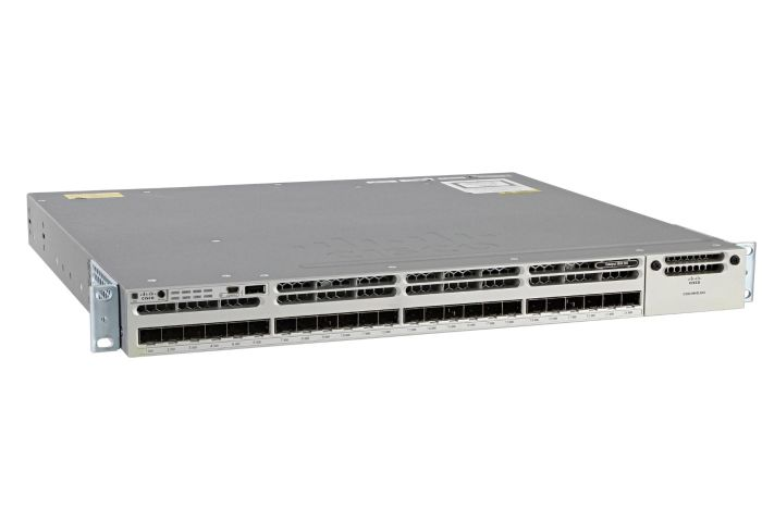 Cisco Catalyst WS-C3850-24S-E Switch IP Services License, Port-Side Air Intake