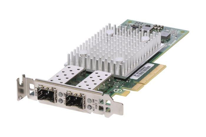 Dell QLogic QL41112 10Gb SFP+ Dual Port Low Profile CNA - 807N9 - Ref