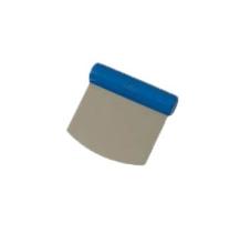 Skrapa pyöreä rst/muovikahva 110x100 mm