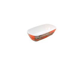 Tarjoilukulho melamiini puukuvio/oranssi GN 1/3
