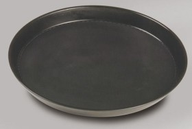Tarjotin non-slip musta Ø 36 cm