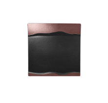 Neliölautanen musta/pronssi 25x25 cm