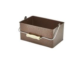 Tarjoilulaatikko taottu kupari 24,5x15,5x12,5 cm