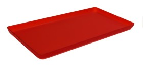 Lasikkotarjotin chilinpunainen matta 21x40 cm