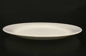 Lautanen valkoinen polykarbonaatti Ø 25,5 cm