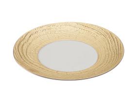 Lautanen valkoinen/kulta Ø 28 cm