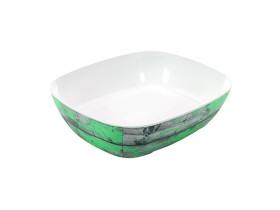 Tarjoilukulho melamiini puukuvio/vihreä GN 1/2
