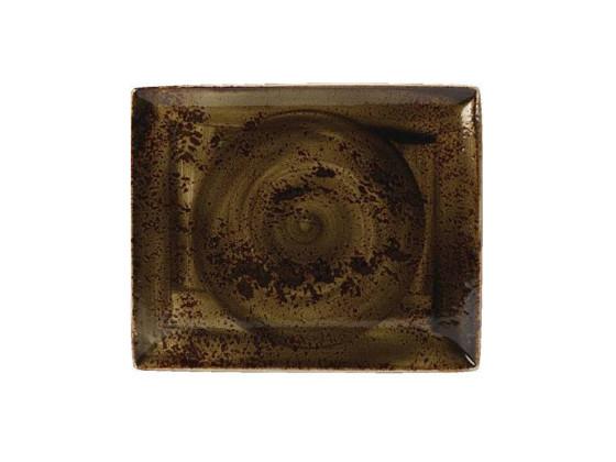 Lautanen suorakaide ruskea 33x27 cm