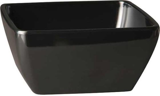 Neliökulho melamiini musta 19 x 19 cm 1,5 L