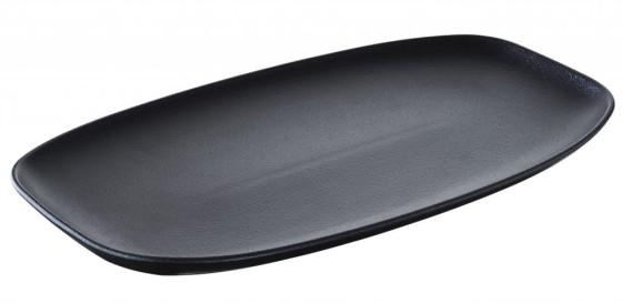 Lautanen suorakaide mattamusta 36x21x2,9 cm