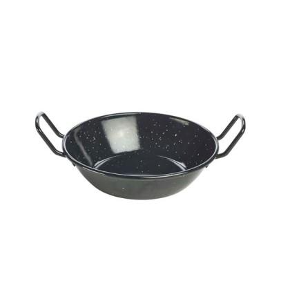 Pannu kahvallinen emaloitu musta Ø 18 cm