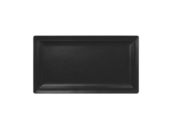 Lautanen suorakaide musta 38x21 cm