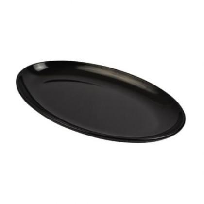 Vati soikea melamiini musta 530x325 mm