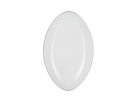 Lautanen soikea valkoinen P 35 cm