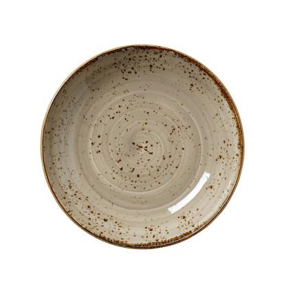 Lautanen syvä musta Ø 20,5 cm
