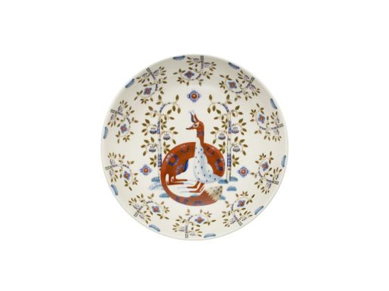 Lautanen syvä deko valkoinen Ø 22 cm
