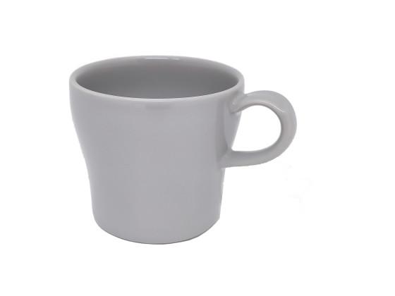 Kahvikuppi pinottava 20 cl harmaa kiiltävä