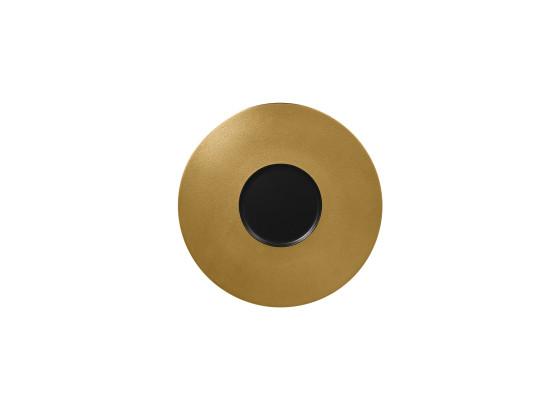 Lautanen musta/kulta Ø 29 cm