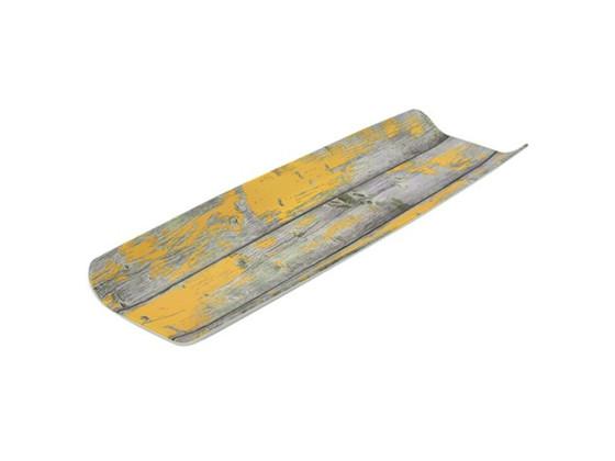 Tarjoiluvati melamiini puukuvio/keltainen GN 2/4