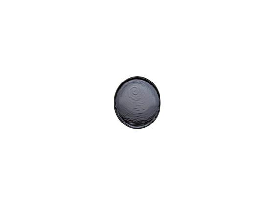 Lasilautanen savunharmaa Ø 12 cm