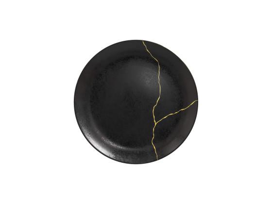 Lautanen reunaton kultakoriste Ø 29 cm