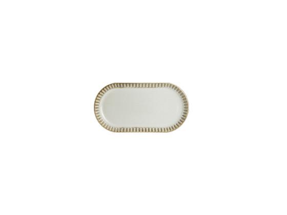 Lautanen soikea valkoinen 18x12 cm