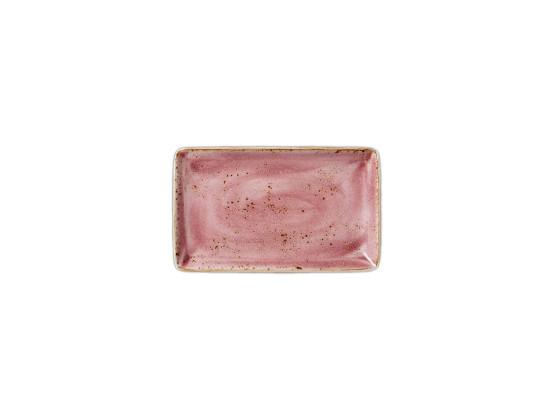 Lautanen suorakaide pinkki 27x16,75 cm