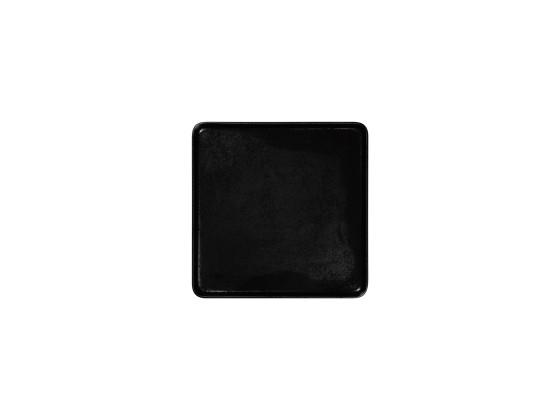 Lautanen neliö musta 24x24 cm