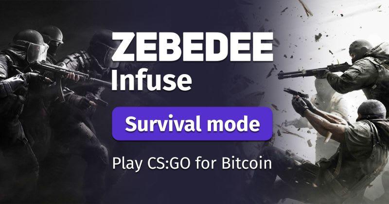 Ganhar bitcoin a jogar online com a Zebedee Infuse