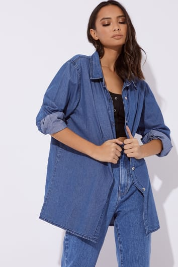 KALENA BLUE DENIM SHIRT