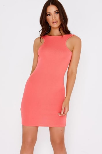 ARIELLA CORAL BASIC BODYCON MINI DRESS