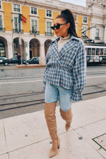 LORNA LUXE 'LITTLE BLUE JACKET' IN TWEED