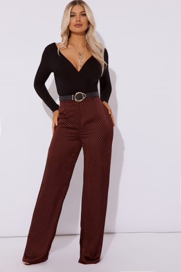 bd623ee813 OPALE STRIPE SATIN WIDE LEG TROUSER