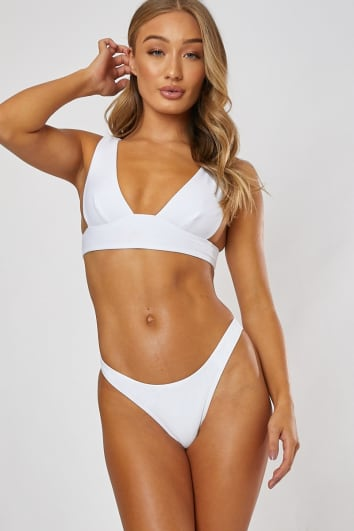 WHITE MIX & MATCH THONG BIKINI BOTTOMS