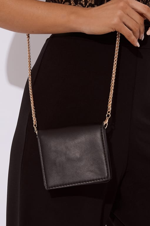 BLACK CHAIN BAG