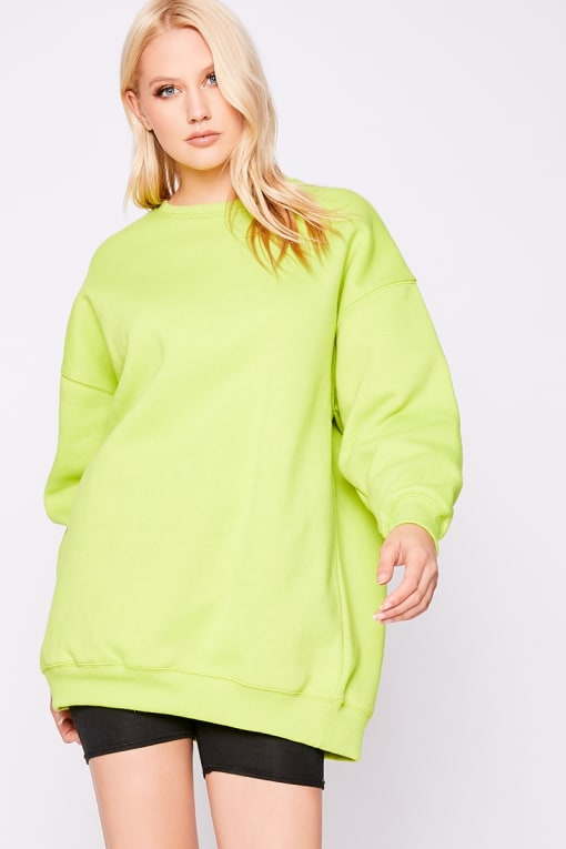 BERYAN LIME OVERSIZED SWEATER DRESS