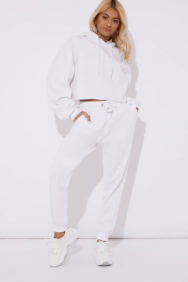 708bb095b7 Petra White Oversized Joggers by In The Style