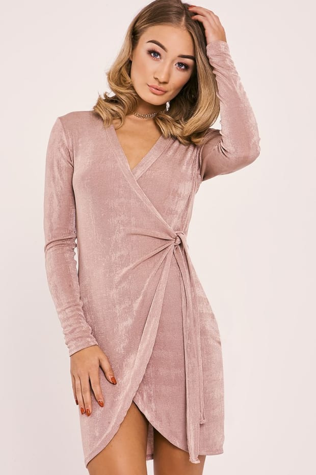 ESMAY ROSE SLINKY WRAP DRESS