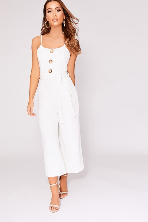 61f86d350c08 DESERA WHITE HORN BUTTON BELTED JUMPSUIT. Previous
