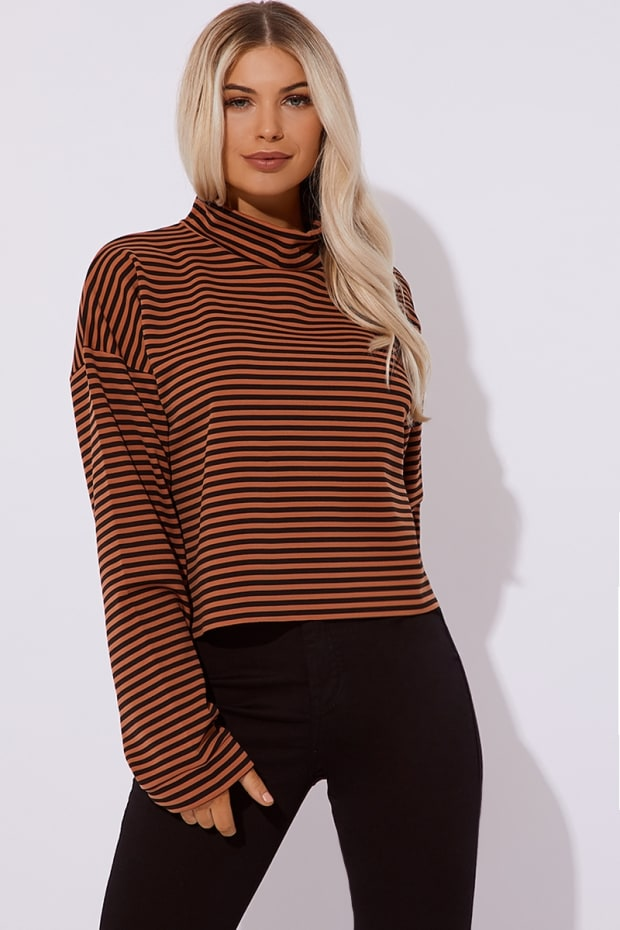 KYAH BLACK STRIPE PRINT SWEAT