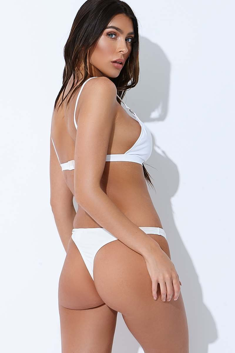 f04365b2cb589 Sarah Ashcroft White Thong Bikini Bottoms