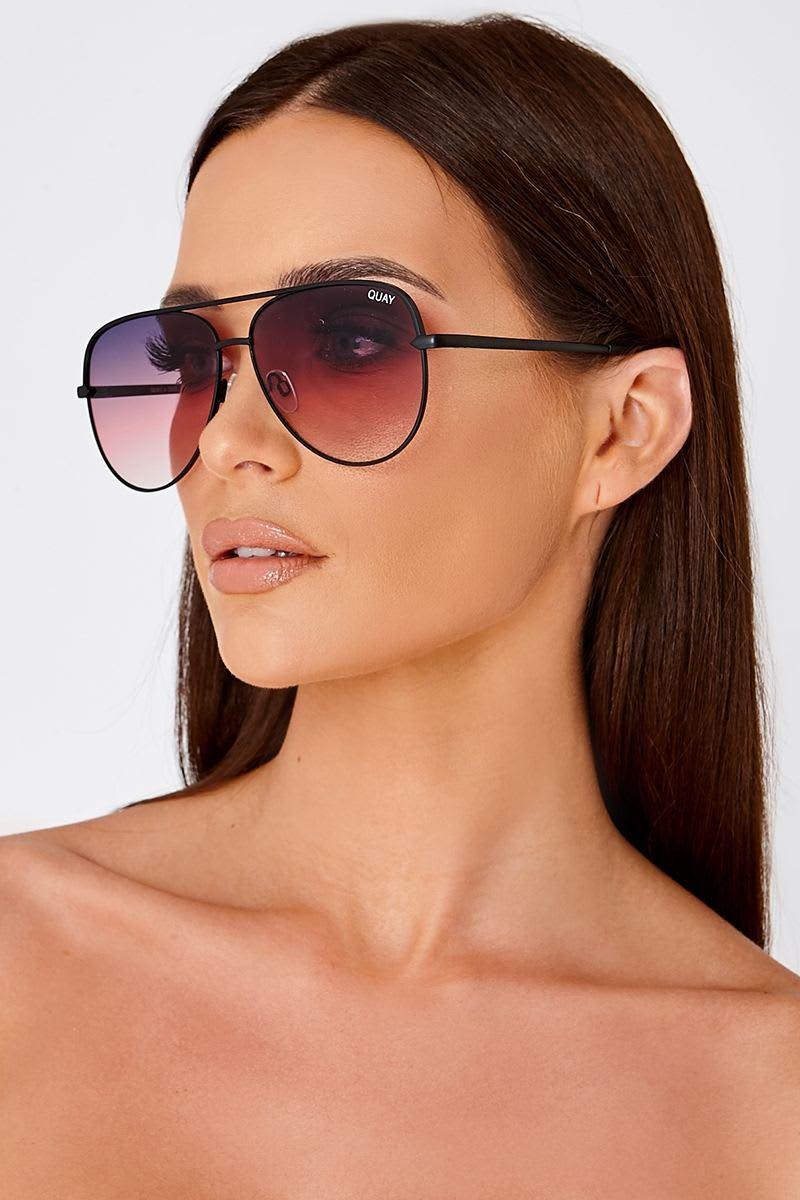 30d5f2492d Quay Sahara Purple Tinted Lens Aviator Sunglasses