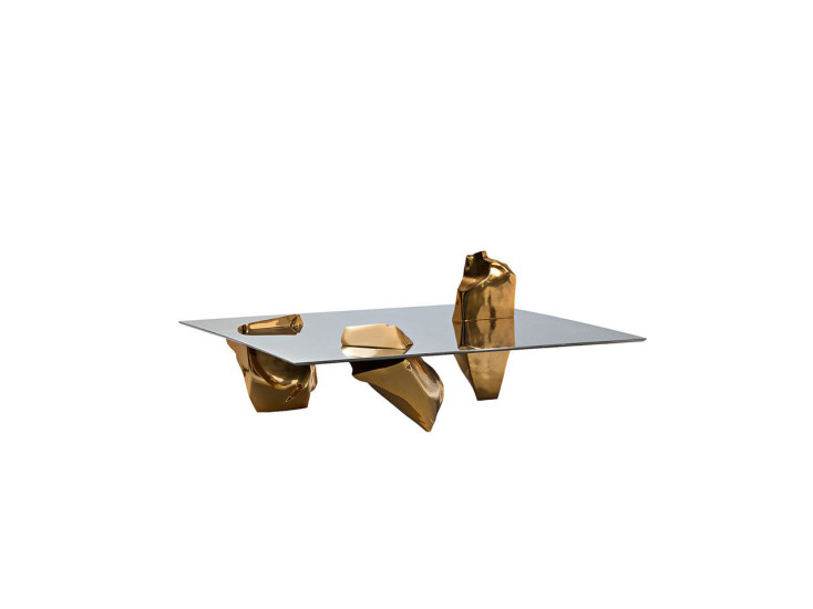 Sereno: Coffee table 130 cm x 130 cm H 56 cm in different finishings