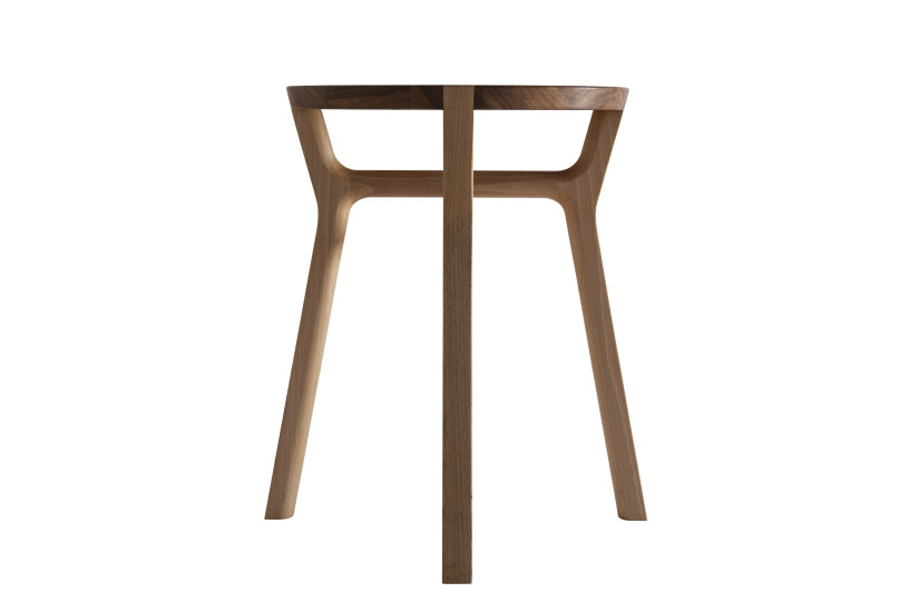 Affi: Stool 37.5 cm x 37.5 cm H 42 cm in solid wood