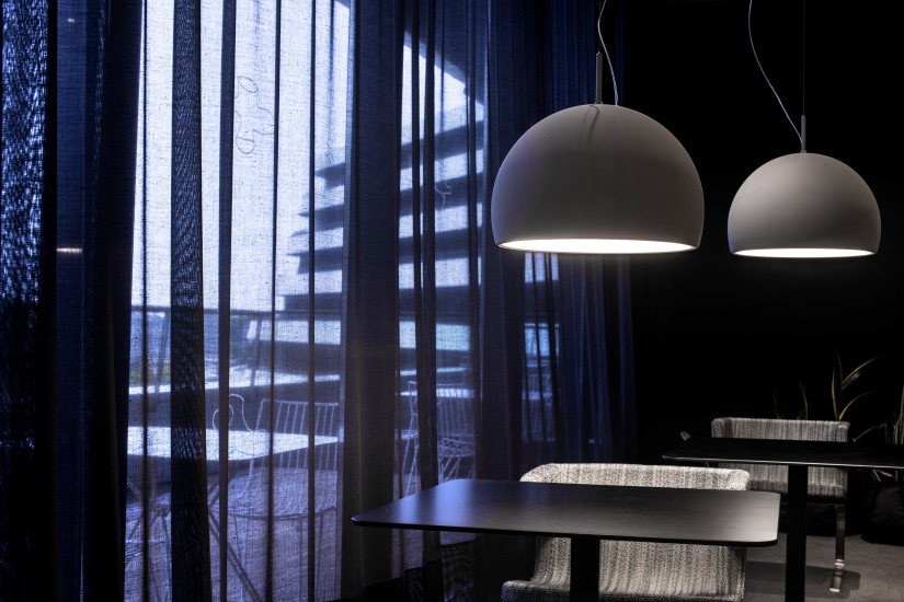 Biluna S7: Suspended light Ø600 mm available in different finishings