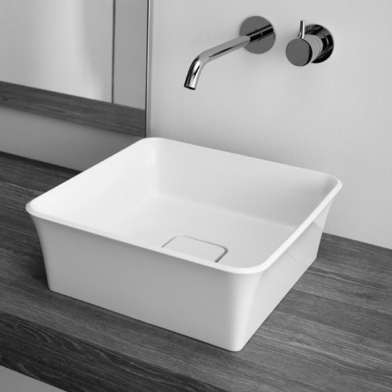 Brio: Countertop washbasin 38 cm x 38 cm