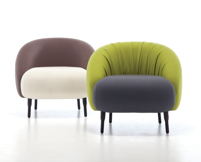 Bump 01: Lounge chair upholstered in different materials