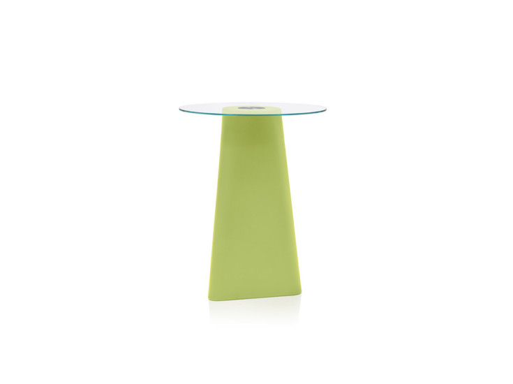 Adam: Table with glass top Ø80 cm H 102 cm