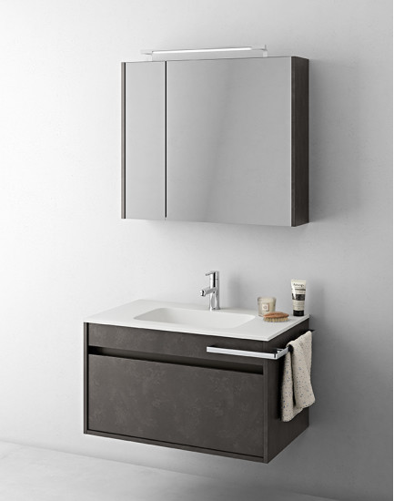Duetto 07: Monoblock W 85 cm D 51 cm with 1 drawer