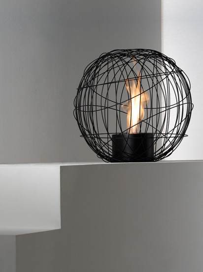 Nest: Free standing fireplace Ø540 mm H 540 mm